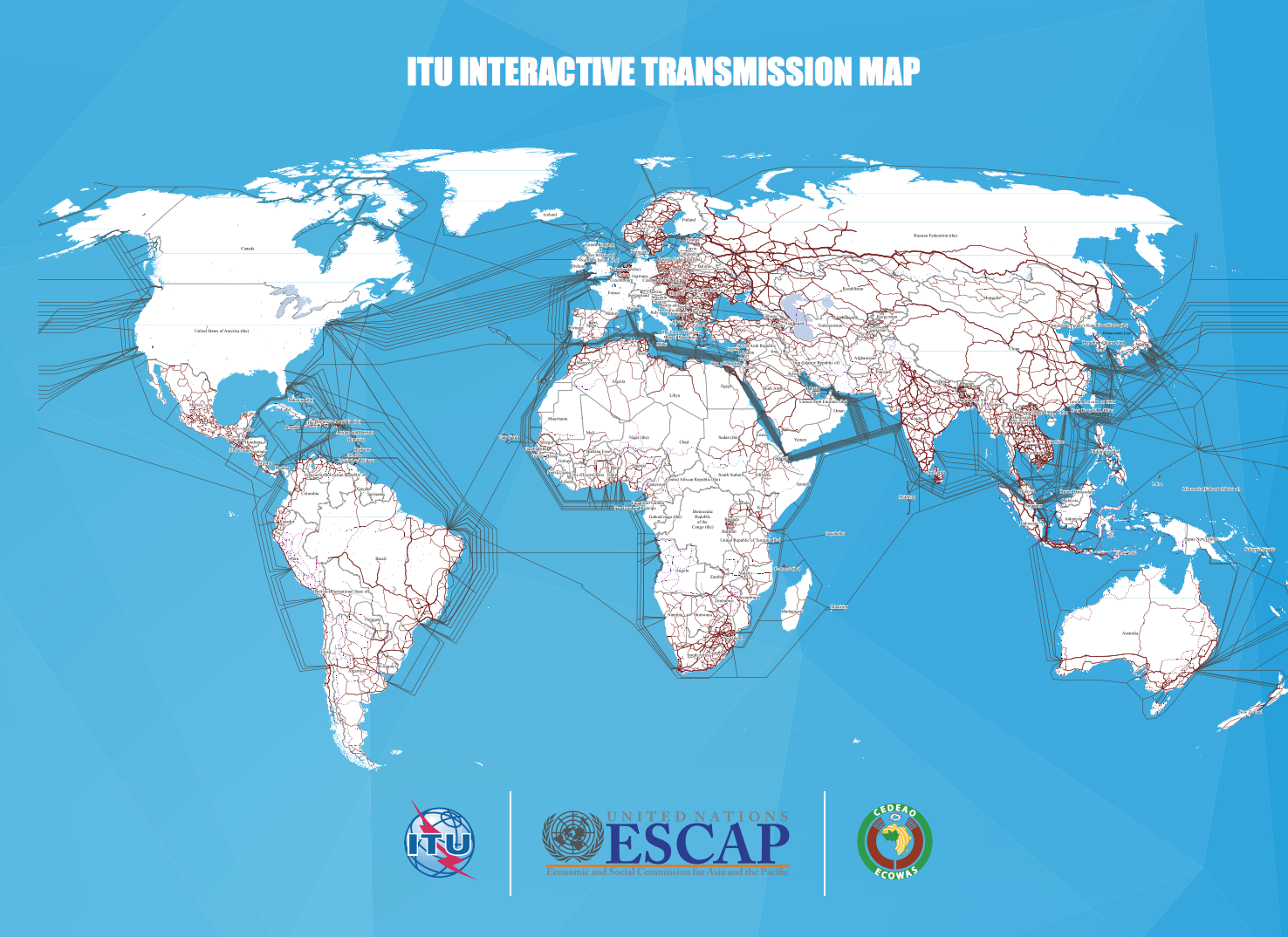"""Mezinárodní telekomunikační unie potřebuje nové grafické rozhraní pro své interaktivní """"vysílací"""" mapy"""
